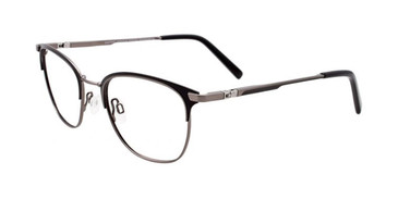 Matte Black/Steel EasyTwist ET988 Eyeglasses - Teenager.