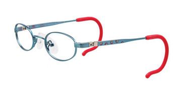 Shiny Teal/Burgundy/Yellow EasyTwist ET983 Eyeglasses.