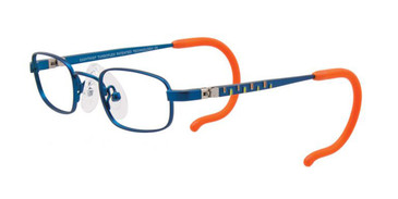 Matte Royal Blue/Orange/Yellow EasyTwist ET985 Eyeglasses.