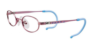 Shiny Light Pink/Blue/Orange EasyTwist ET984 Eyeglasses.