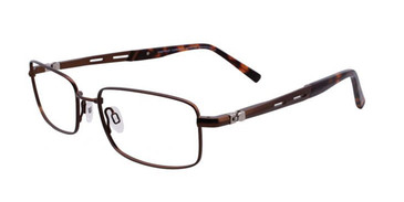 Matte Brown EasyTwist ET981 Eyeglasses.