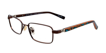 Satin Dark Brown EasyTwist ET976 Eyeglasses.
