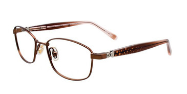 Satin Brown EasyTwist ET975 Eyeglasses.