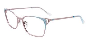 Matte Light Blue/Matte Grey Easy Clip EC545 Eyeglasses - (Clip-On).