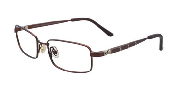 Satin Brown/Silver EasyTwist ET967 Eyeglasses.