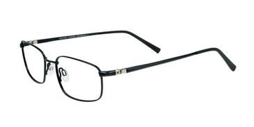 Satin Black EasyTwist ET840 Eyeglasses.