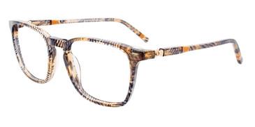 Brown/Grey Marbled Easy Clip EC530 Eyeglasses - (Clip-On).