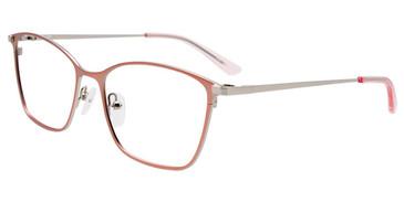 Satin Light Pink/Silver Easy Clip EC532 Eyeglasses - (Clip-On).