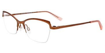 Satin Brown Easy Clip EC538 Eyeglasses - (Clip-On).