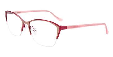 Matte Pink/Light Gold Easy Clip EC533 Eyeglasses - (Clip-On).