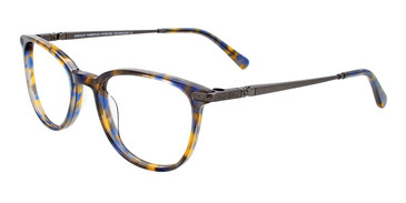 Brown/Blue Tortoise Easy Clip EC525 Eyeglasses - Teenager - (Clip-On).