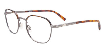 Shiny Demi Amber/Dark Grey Easy Clip EC517 Eyeglasses - Teenager - (Clip-On).