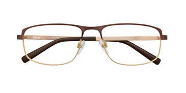 Satin Brown/Gold Turboflex B6016 Eyeglasses.