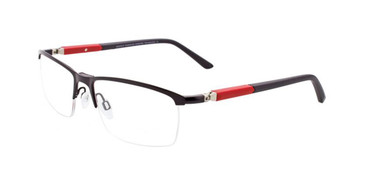 Satin Black Turboflex EC348 Eyeglasses.