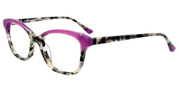 Purple/Demi Grey Easy Clip EC514 Eyeglasses - (Clip-On).