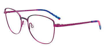 Orchid/Teal Marbled/Satin Orchid Easy Clip EC523 Eyeglasses - (Clip-On).