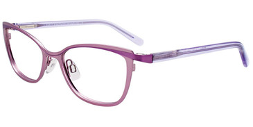 Satin Light Purple/Purple Easy Clip EC509 Eyeglasses - Teenager - (Clip-On).