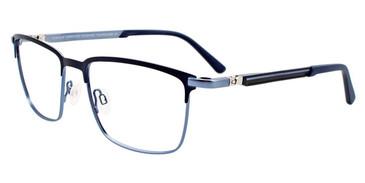 Matte Navy/Light Blue Easy Clip EC496 Eyeglasses - (Clip-On).