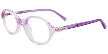 Light Purple Crystal/Glitters Easy Clip EC505 Eyeglasses.