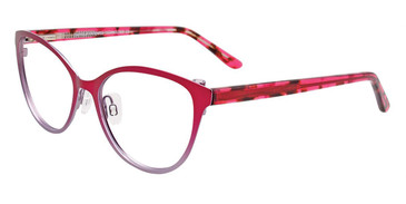 Dark Pink/Steel Easy Clip EC498 Eyeglasses - (Clip-On).
