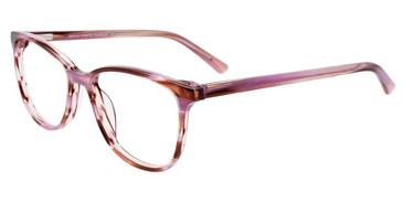 Purple Marbled Easy Clip EC513 Eyeglasses - (Clip-On).