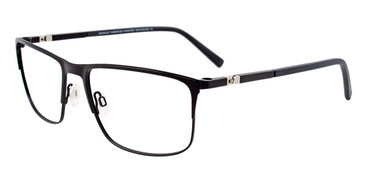 Matte Black Easy Clip EC491 Eyeglasses - (Clip-On).
