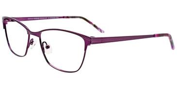 Shiny Dark Purple Easy Clip EC502 Eyeglasses - (Clip-On).