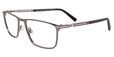 Matte Steel Easy Clip EC476 Eyeglasses - (Clip-On).