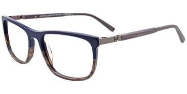 Navy/Grey Marbled Easy Clip EC488 Eyeglasses - (Clip-On).