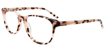 Light Pink/Demi Brown Easy Clip EC490 Eyeglasses.