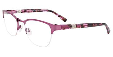 Satin Light Purple Easy Clip EC474 Eyeglasses - (Clip-On).