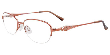 Shiny Brown Easy Clip EC479 Eyeglasses - (Clip-On).