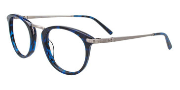 Demi Blue/Silver Easy Clip EC485 Eyeglasses - Teenager - (Clip-On).