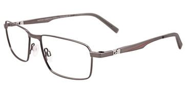 Satin Dark Grey Easy Clip EC477 Eyeglasses - (Clip-On).