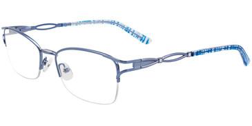 Satin Light Blue Easy Clip EC473 Eyeglasses - (Clip-On).