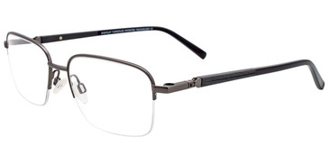 Satin Dark Grey Easy Clip EC468 Eyeglasses - (Clip-On).