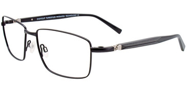 Satin Black Easy Clip EC470 Eyeglasses - (Clip-On).