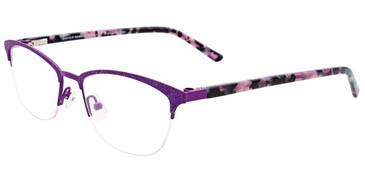 Satin Purple Easy Clip EC463 Eyeglasses - (Clip-On).