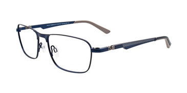 Satin Navy/Light Grey Turboflex TK992 Eyeglasses.