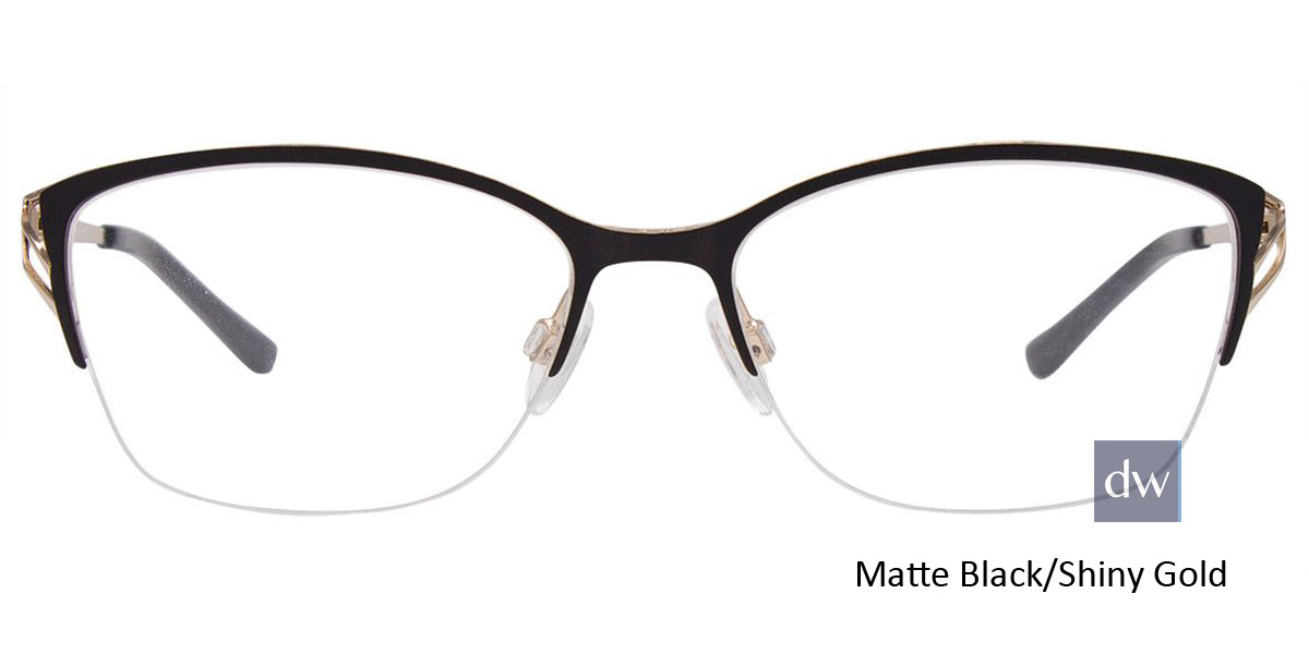 Matte Black/Shiny Gold Easy Clip EC480 Eyeglasses - (Clip-On).