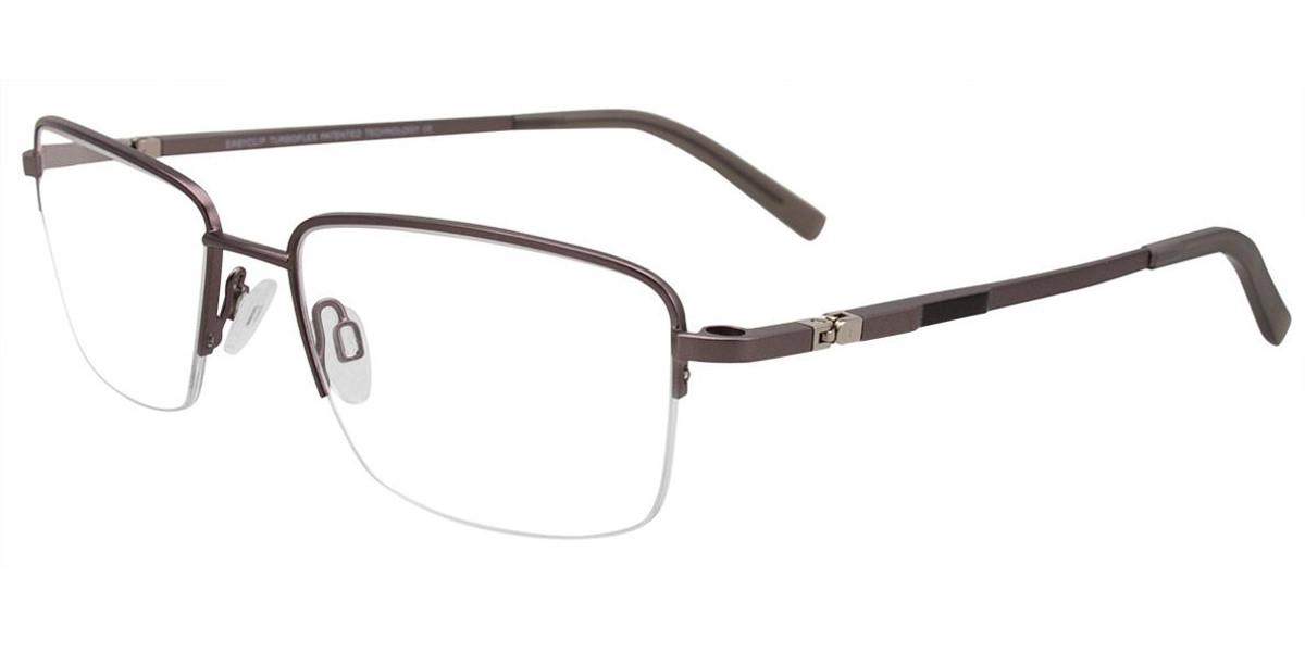 Satin Steel/Black Easy Clip EC465 Eyeglasses - (Clip-On).
