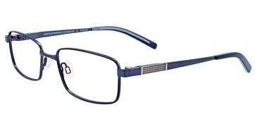 Satin Navy/Grey Easy Clip SF122 Eyeglasses - (Clip-On).