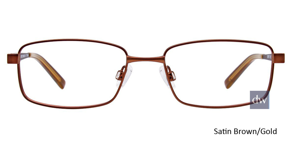 Satin Brown/Gold Easy Clip SF122 Eyeglasses - (Clip-On).