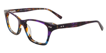 Violet/Amber/Blue Easy Clip EC453 Eyeglasses - Teenager - (Clip-On).