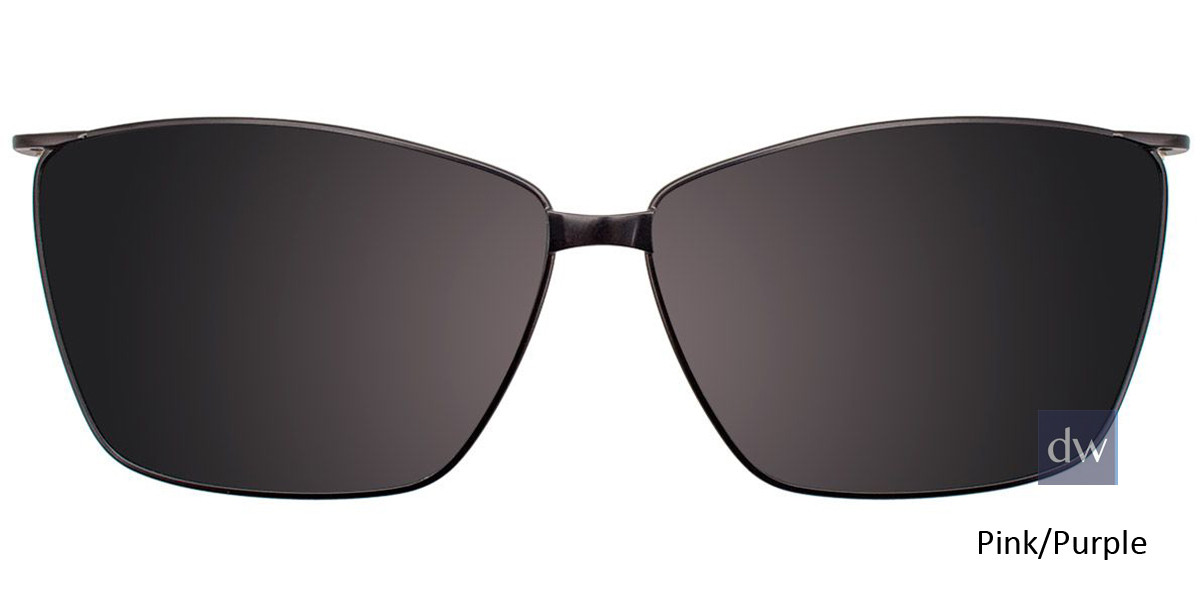 Pink/Purple Easy Clip EC453 Eyeglasses - Teenager - (Clip-On).