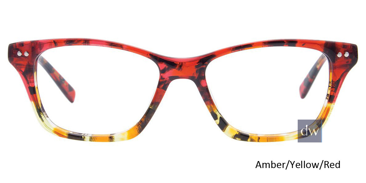 Amber/Yellow/Red Easy Clip EC453 Eyeglasses - Teenager - (Clip-On).