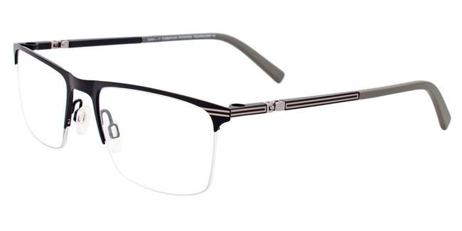 Matte Black/Silver Easy Clip EC457 Eyeglasses - (Clip-On).