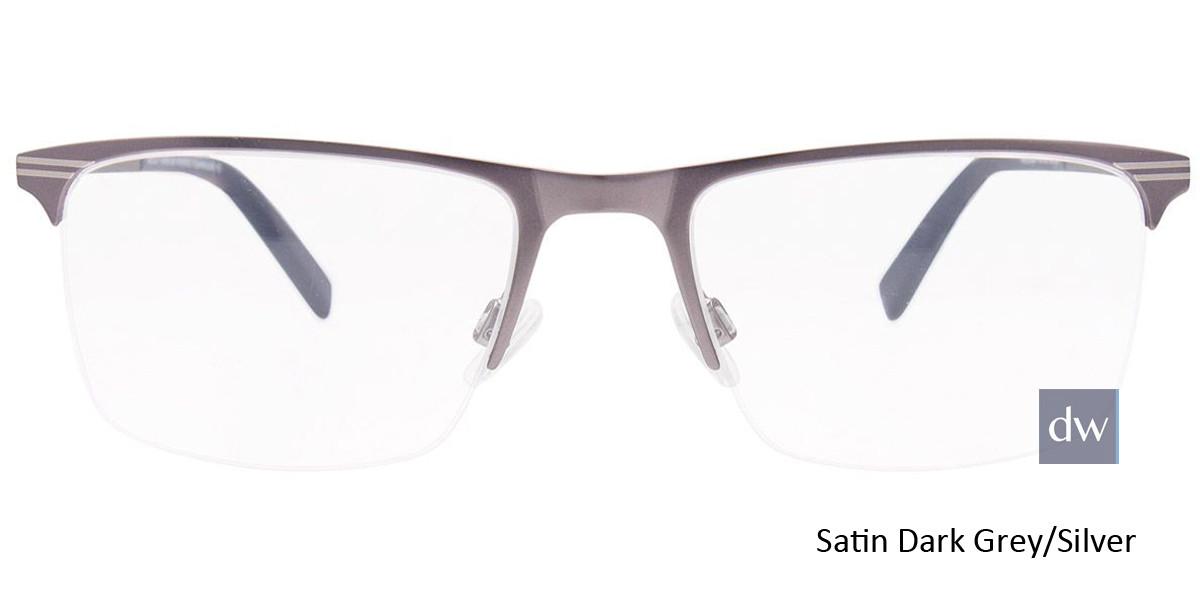 Satin Dark Grey/Silver Easy Clip EC457 Eyeglasses - (Clip-On).
