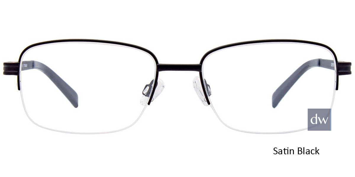 Satin Black Easy Clip SF123 Eyeglasses - (Clip-On).