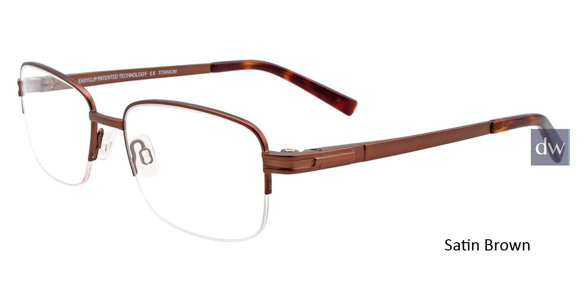 Satin Brown Easy Clip SF123 Eyeglasses - (Clip-On).